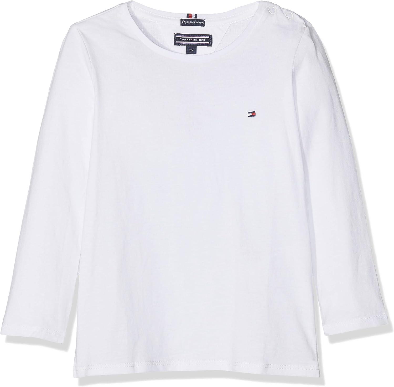 Tommy Hilfiger Girls Basic CN Knit L//S Maglietta Bambina