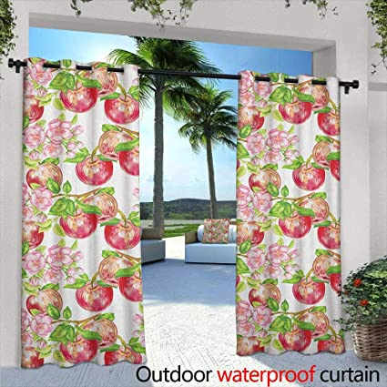 Superbe Marilds Victorian Sliding Door Curtain Apple Tree In Summer Time With  Flowers Nature Scenery Cultural Artwork