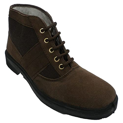 Bota Trabajo Ante y Lona Tipo clásica Chiruca Vallera en marrón: Amazon.es: Zapatos y complementos