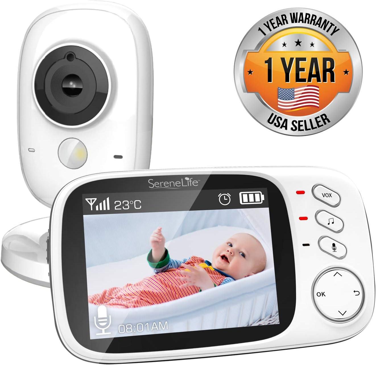 Video Baby Monitor Long Range Upgraded 850' Wireless Range, Night Vision, Temperature Monitoring