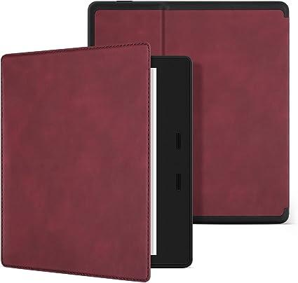 Ayotu Estuche Skin Touch Feeling para Kindle Oasis (novena generación, lanzado Solo en 2017) Versión Honeycomb con Estuche para Despertar/Dormir automático,Soft Shell KO-10 The Wine Red: Amazon.es