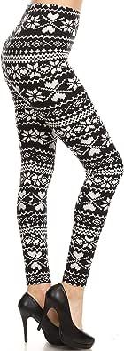 Leggings Depot Women's Ultra Soft Fashion Leggings BAT2