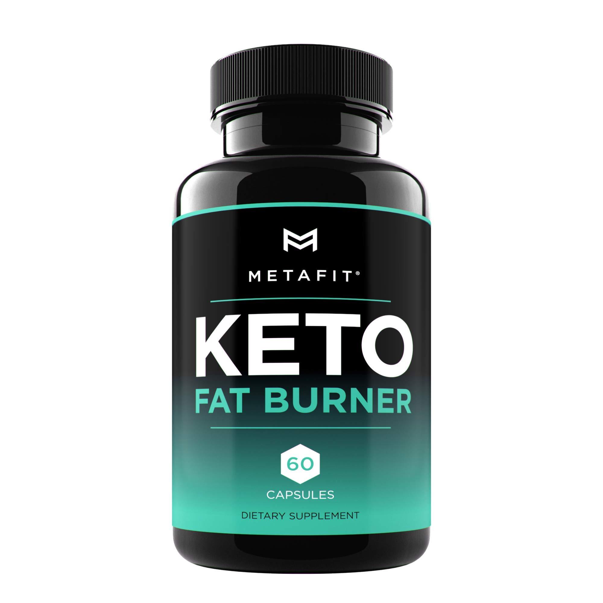 Keto Fat Burner Pills for Weight Loss - 60 Keto Burn Capsules - Ketosis Diet Supplement for Women & Men by METAFIT by Metafit
