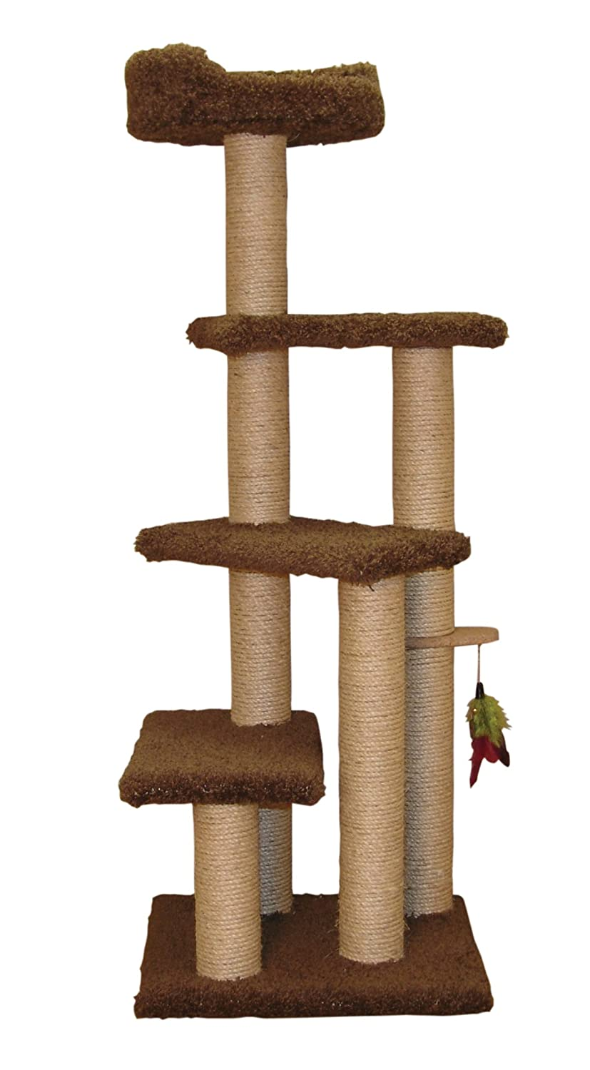 Family cat step up cat tree with sky lookout low cost for Cat tree steps