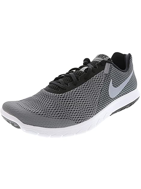 567bf257b0e2 Nike Mens Flex Experience RN 6 Cool Grey MTLC Grey WHT BLK Size 10. 5