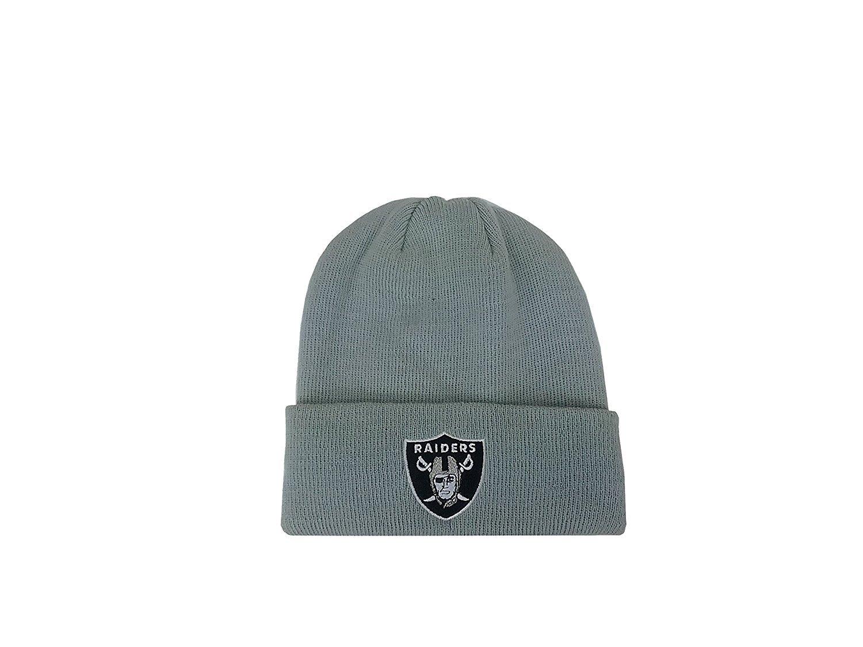 Reebok Youth/Kid's Hat NFL Oakland Raiders Beanie Basic Logo Gray Uncuffed Knit