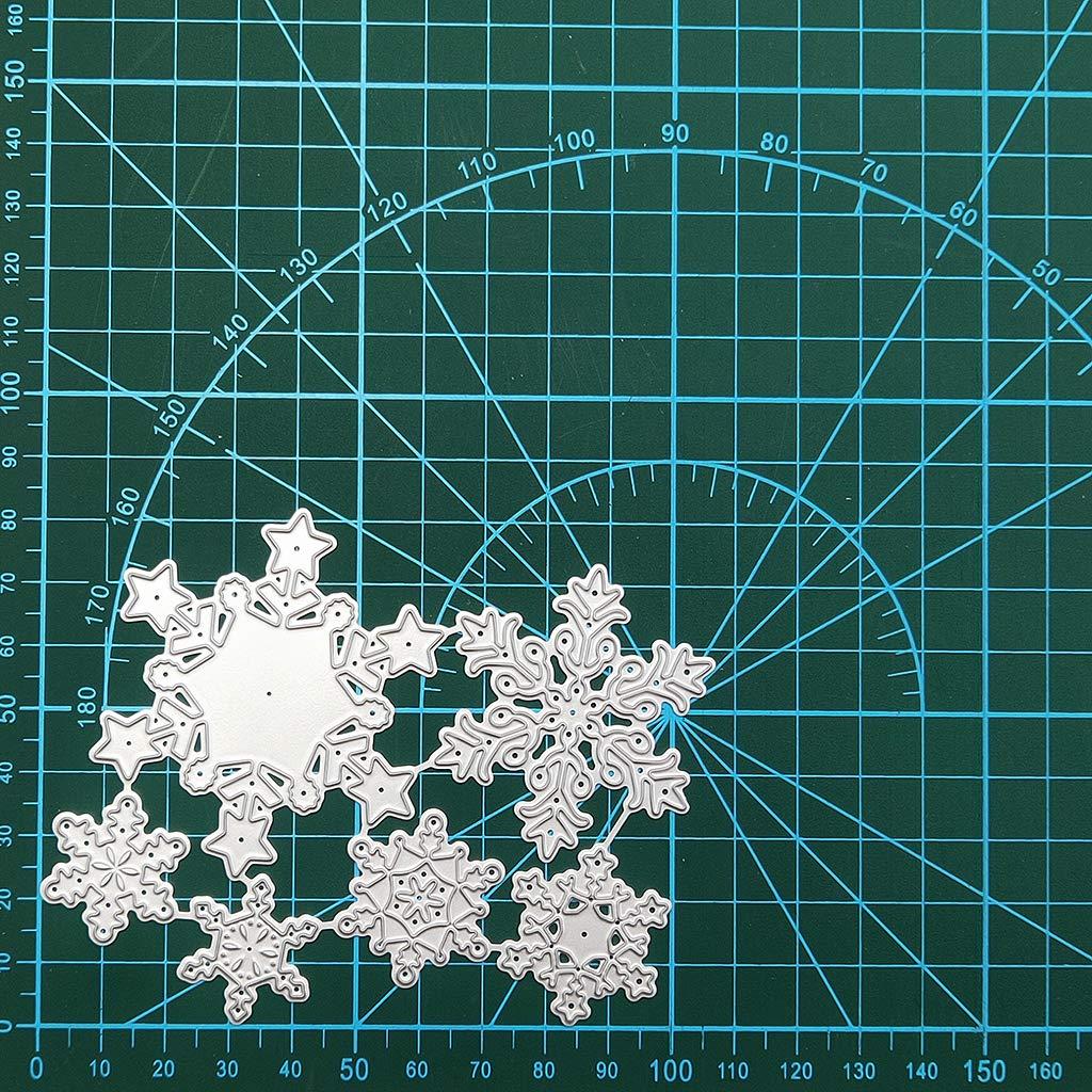 PINH-lang Stanzmaschine Stanzschablone Weihnachten Schneeflocke Metall Stanzformen Schablone DIY Scrapbooking Album Stempel Papier Karte Pr/äge Craft Decor
