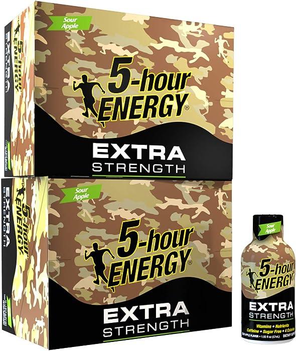 5-hour ENERGY Shot, Extra Strength Sour Apple Flavor, 1.93 oz. 24 pack