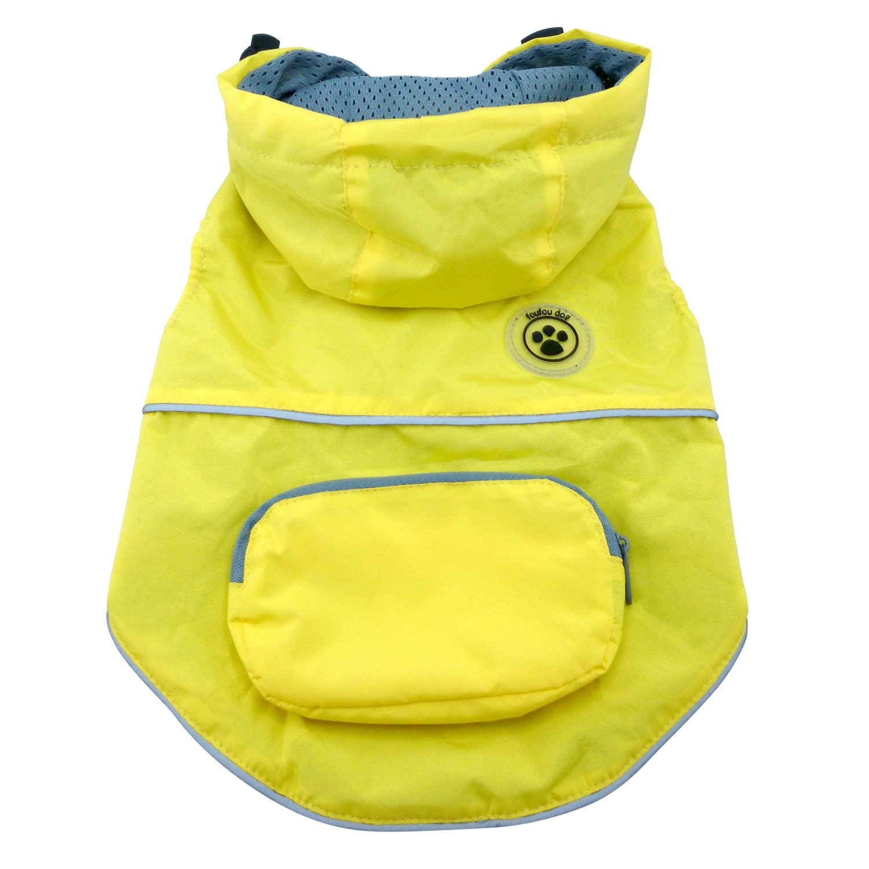 Yellow Small Yellow Small FouFou Dog Rainy Day Poncho, Small, Yellow