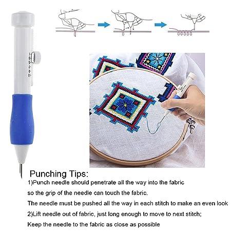 Kit de pluma mágica del bordado, AresKo aguja del bordado Herramienta del arte de aguja del sacador para los subprocesadores del bordado: Amazon.es: Hogar