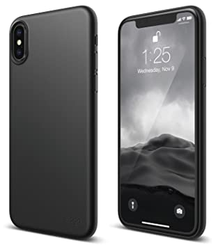 elago S8 - Carcasa para iPhone X, Color Negro