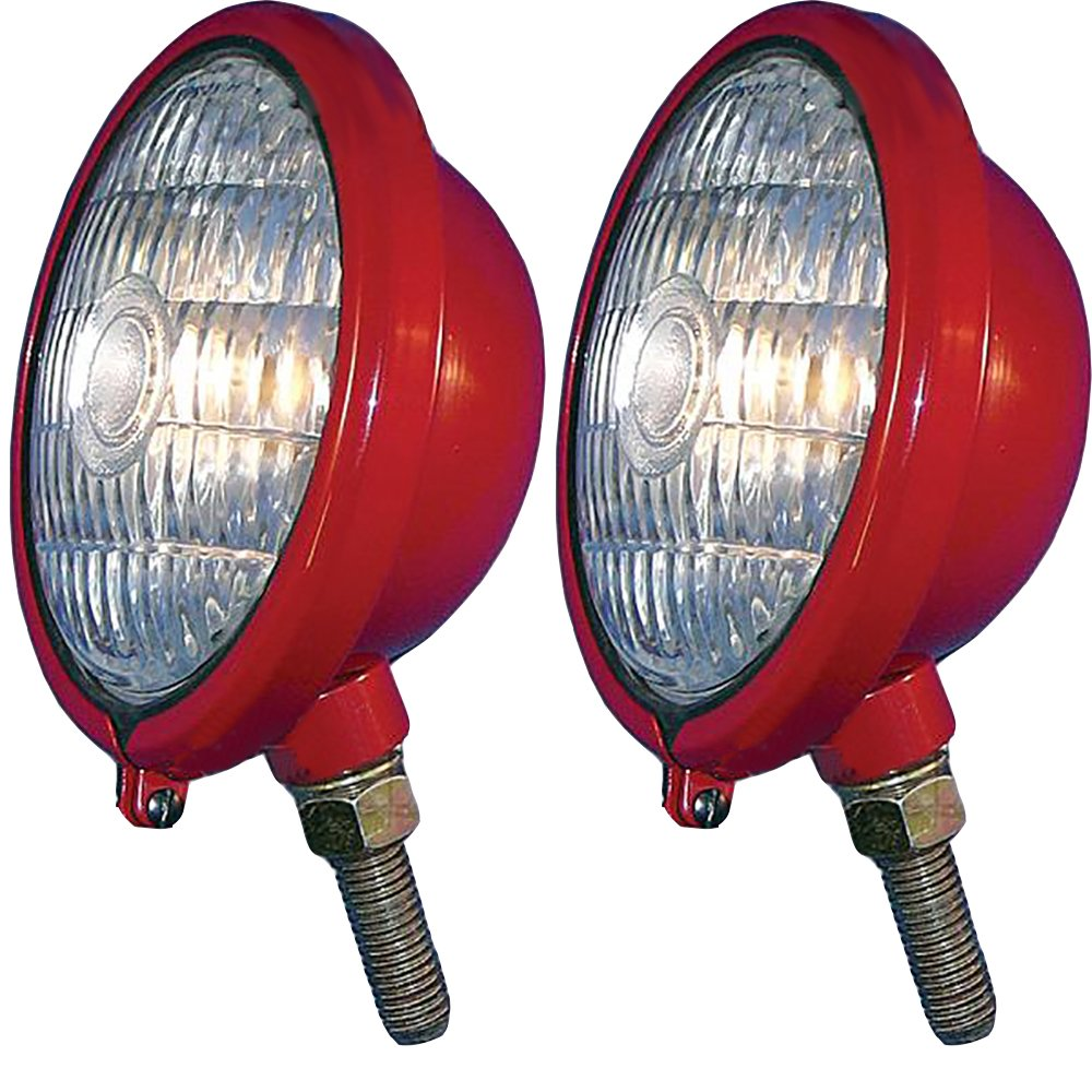 375855R91 Two 12V Red Front Lights For Case IH Farmall Cub ABC Super H M MTA 330 by RAPartsinc