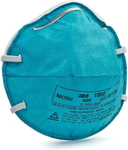 Medical 3m Mask 20 Health ca Count 3m By 1860 N95 Amazon