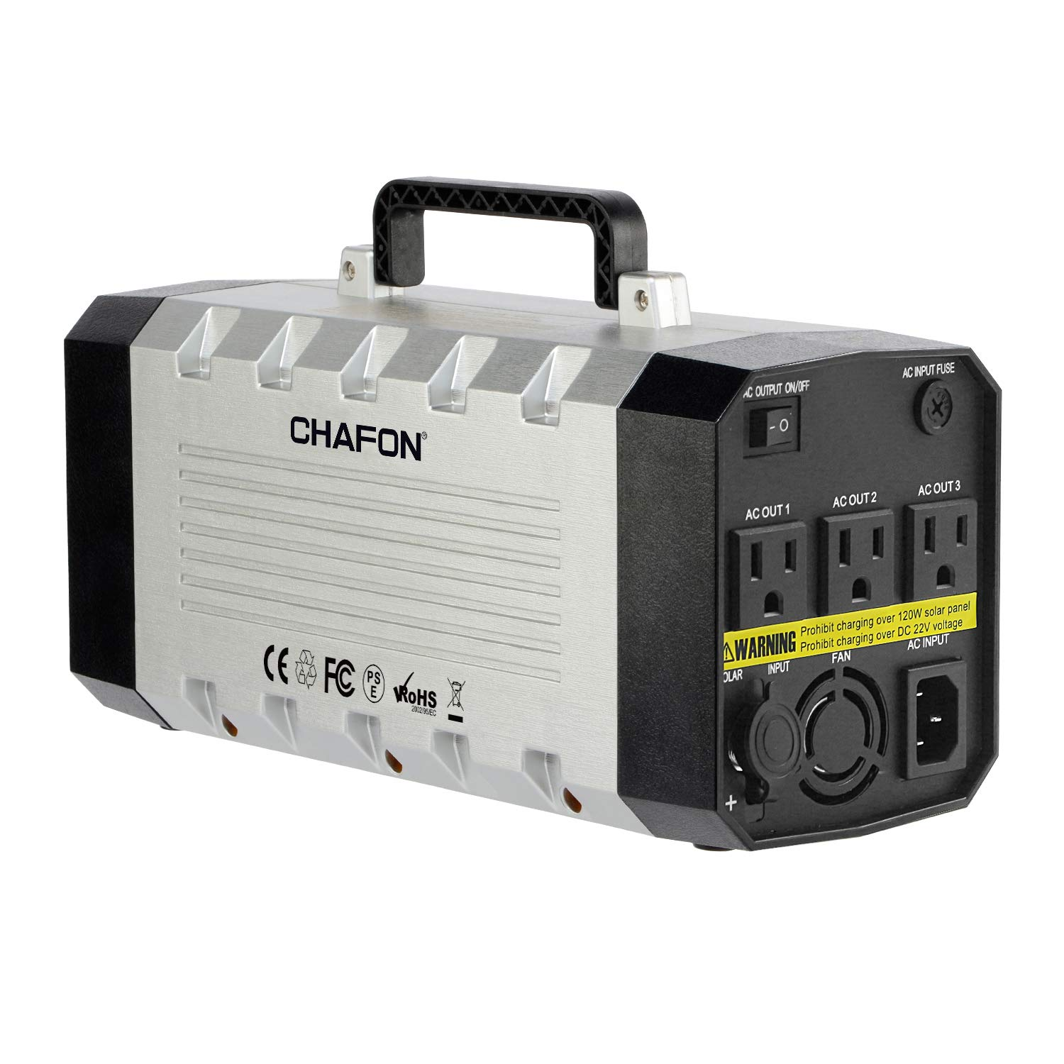 CHAFON Portable Generator 288WH UPS Battery Backup Pack Power Station with 110V/500W AC Outlet,DC 12V,USB Output for Camping,Home Use