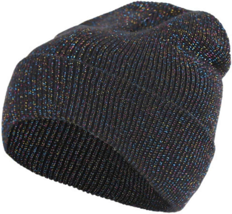 HYID Knitted Casual Glitter Winter Skiing 51g etc Fall Outdoor Hat Beanie Men Cap Warm Casual Street Women