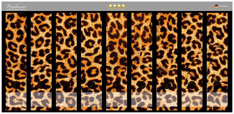Archivadores pegatinas de piel de leopardo, naranja negro - tamaño 54 x 30 cm en alta calidad, compatible con 9 archivadores: Amazon.es: Juguetes y juegos