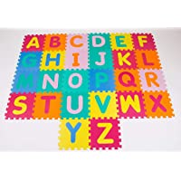 """Happy GiftMart Play ABC Large Size Puzzle Foam Mat with English Alphabets Floor Mat Set of 26 Pcs 11.5"""" x 11.5"""""""