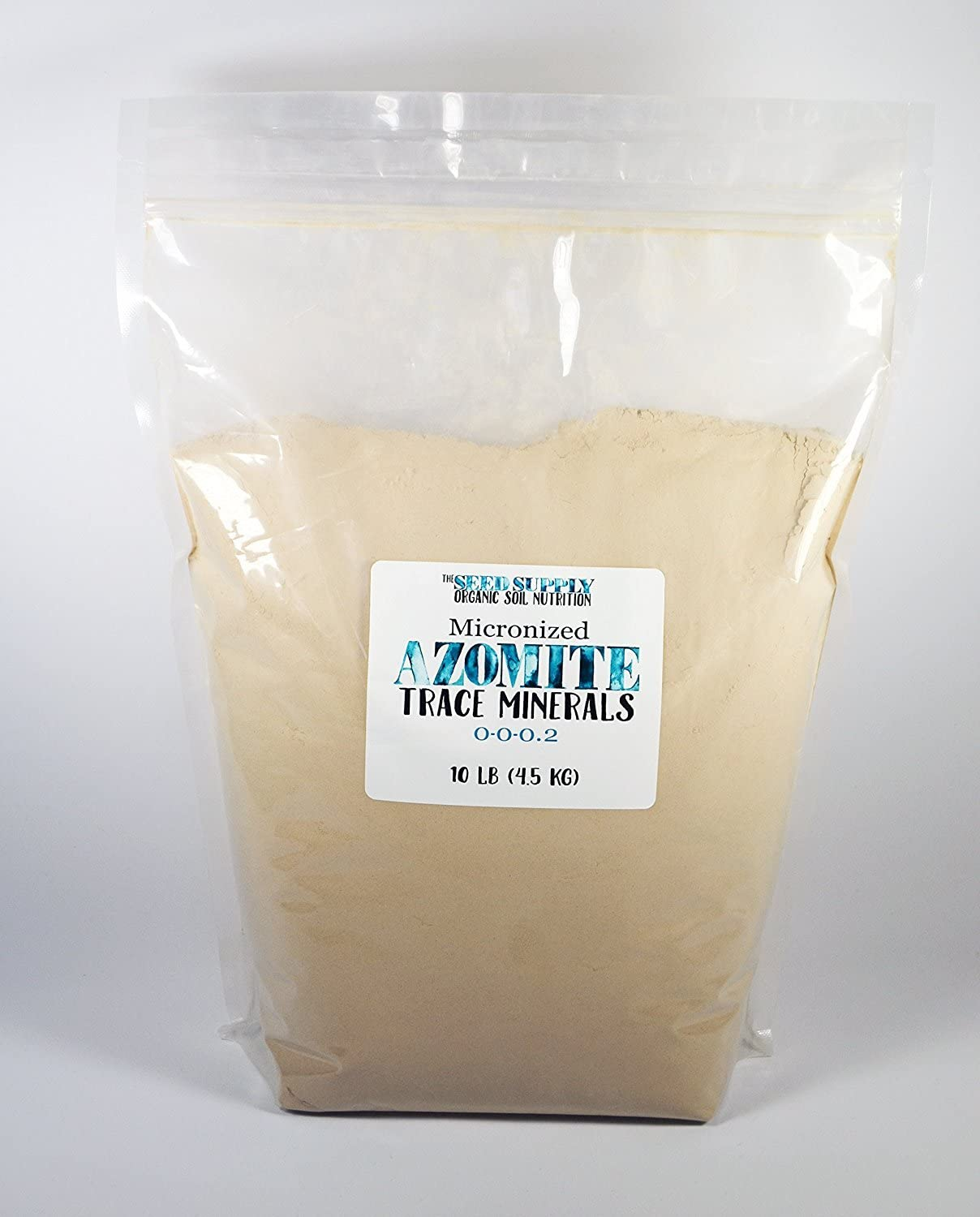 10 Pounds of Azomite - Organic Trace Mineral Powder - 67 Essential Minerals for You and Your Garden - Bulk by Raw Supply