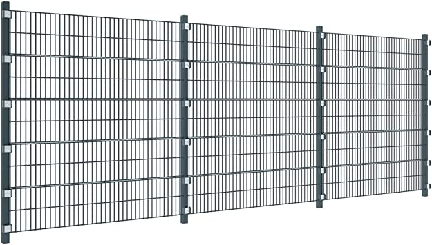 Festnight 6 M 20 Ft Garden Fence Panels Picket Decking Metal Fence With Posts 2m High Amazon Co Uk Diy Tools