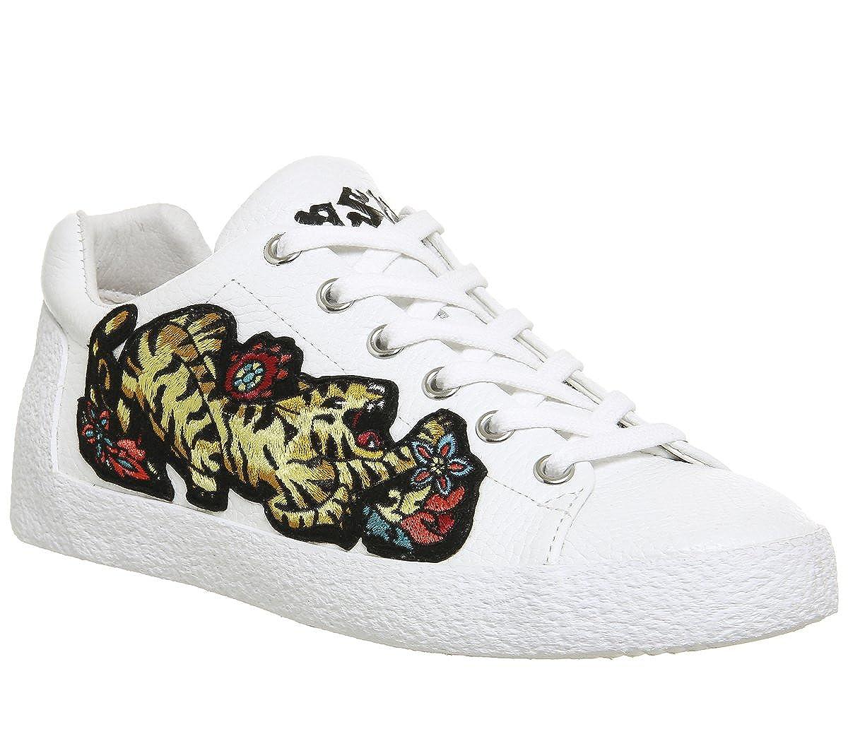 Ash Schuhe Niagara Weiß Leder Turnschuhe Damen