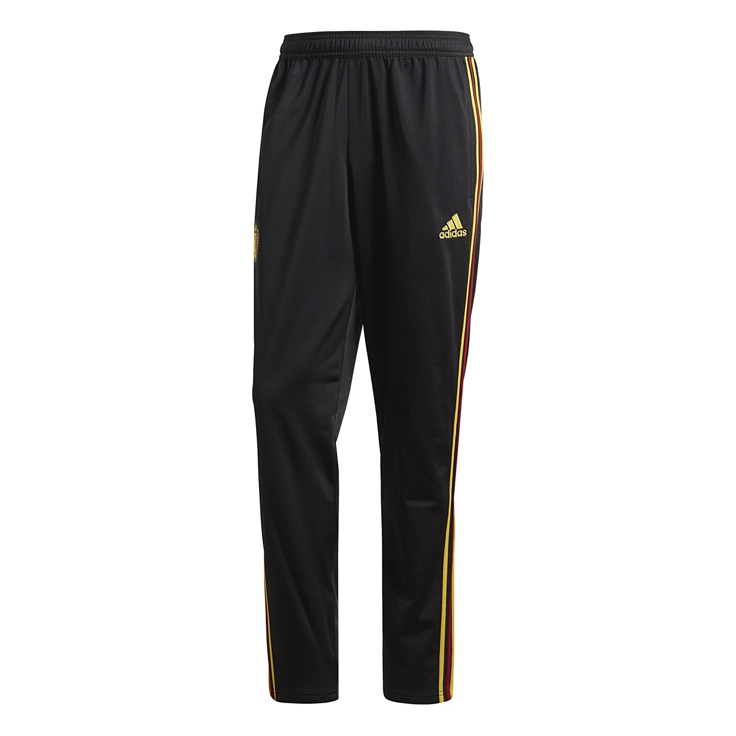 2018-2019 Belgium Adidas Presentation Pants (Black) B077NJYKBQ Medium 34