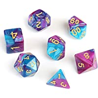 GWHOLE 7 Piezas Dados Poliédricos Dados para Juegos