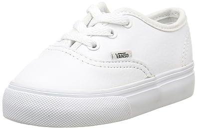 7120294d9e Vans Toddler Authentic White Leather Trainer 9.5UK  Amazon.co.uk ...