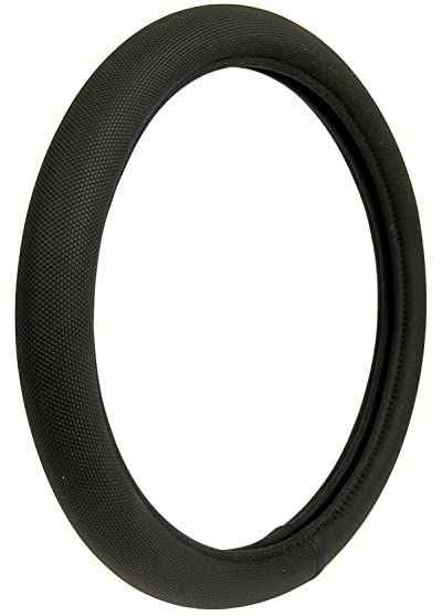 Custom Accessories 38451P Black Memory Foam Soft Grip Steering Wheel Cover