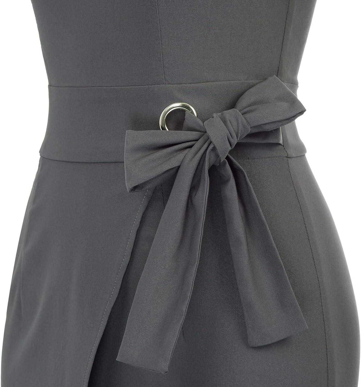 GRACE KARIN Vestito Donna a Matita Aderente ad Increspatura con Fianchi Annodato Vintage