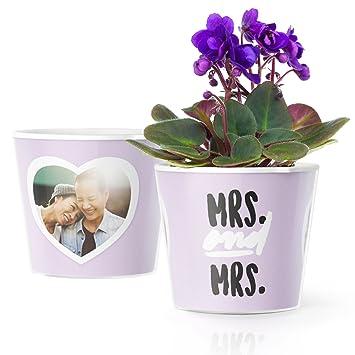 Hochzeitsgeschenk Fur Lesbische Paare Mrs Mrs Blumentopf O16cm