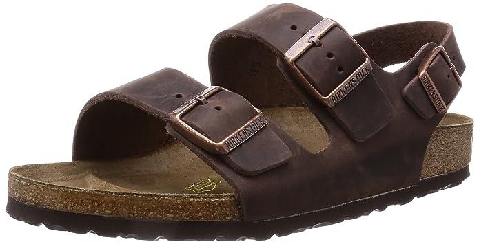 BIRKENSTOCK Milano Unisex - Erwachsene Sandalen/Outdoor-Sandalen aus Glattleder