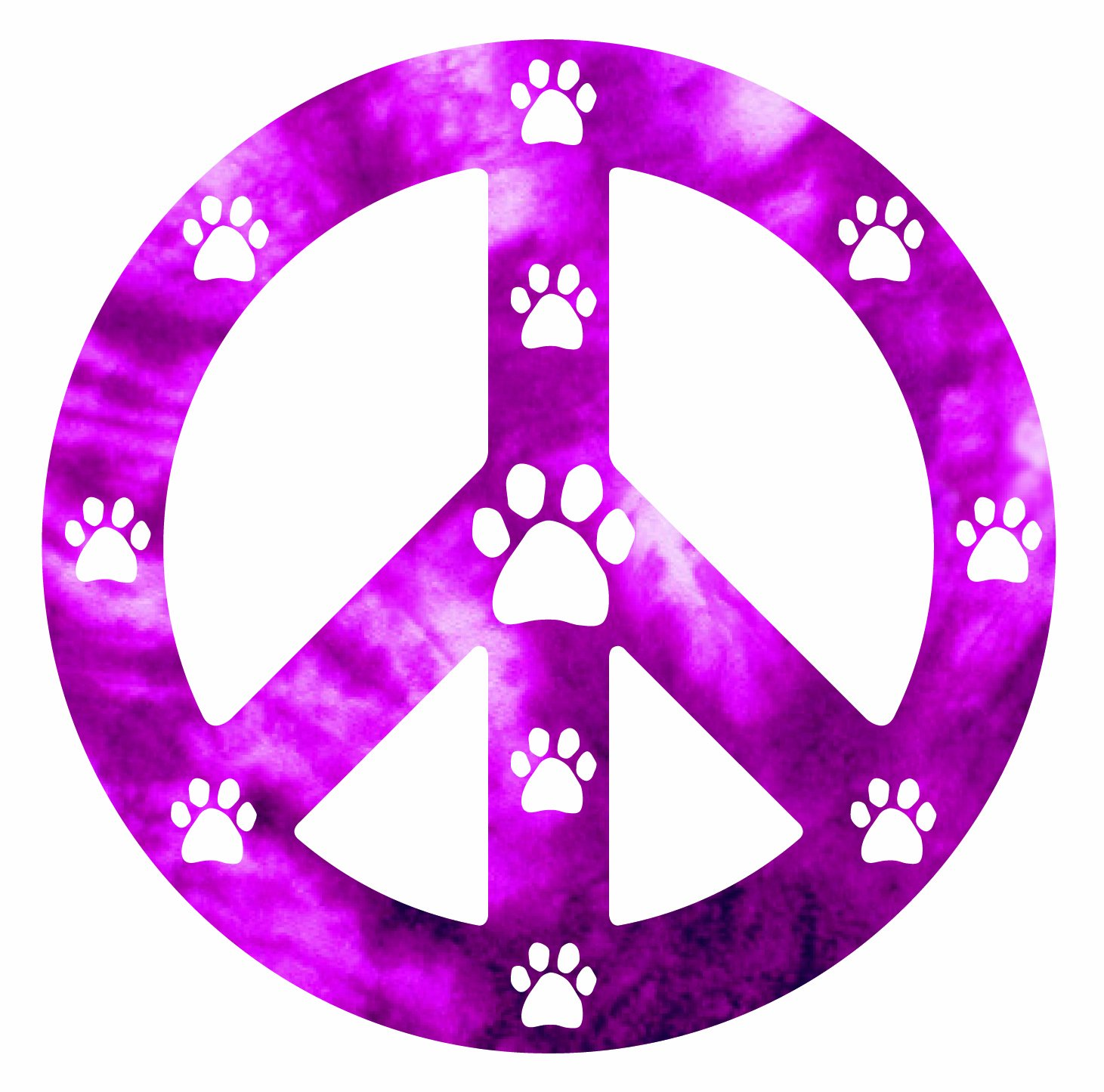 Imagine This 4-3 4-Inch by 4-3 4-Inch Car Magnet Peace Dog Pink