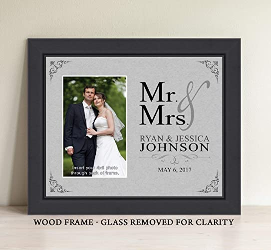 Amazon Personalized Mr And Mrs Picture Frame Bridal Shower