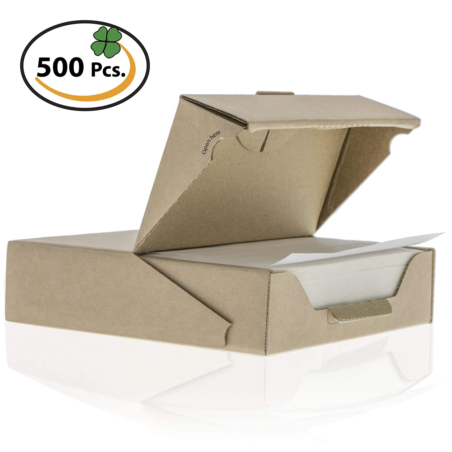 ZeZaZu Parchment Paper Squares 5.5 x 5.5 inches (1000 Sheets) - for Baking, Hamburger | Dual Coated Non-Stick, Convenient Recyclable Dispenser Box