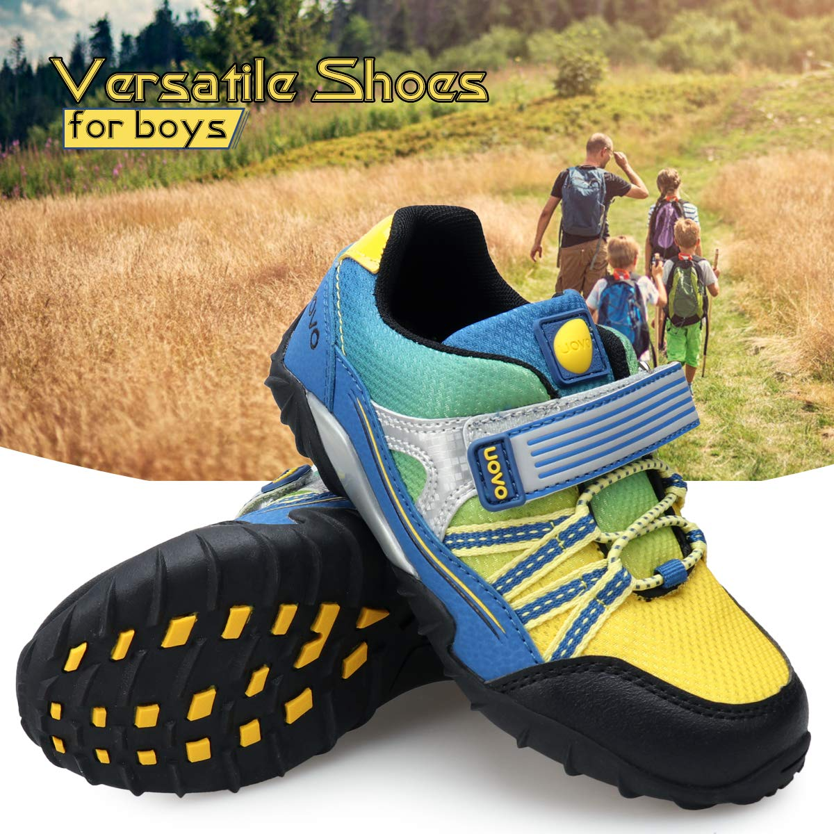 UOVO Little Boys Shoes Running Sneakers Kids Hiking Athletic Tennis Shoes for Toddler Boys Blue by UOVO (Image #3)
