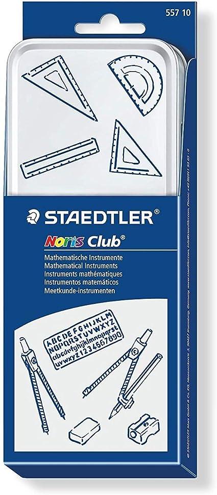 /10-teiliges Mathematik-Set in Metall Geschenkdose 2B Staedtler Back to School Set/ 12/Noris Bleistifte