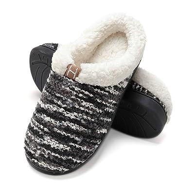 Zapatillas de casa Mujer, Forro algodón, Ultraligero cómodo y Antideslizante, Pantuflas de casa para Mujer: Amazon.es: Zapatos y complementos