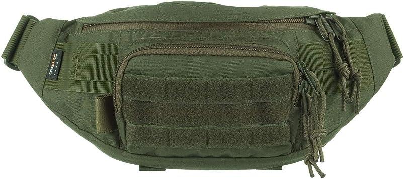 Wisport GEKON Waist Pack Bag Pack Bumbag para Caminata Militar de montaña al Aire Libre (Oliva Verde): Amazon.es: Deportes y aire libre
