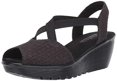 7f15dc37b0e Amazon.com  Skechers Women s Parallel-Peep Toe Gore Slingback Wedge ...