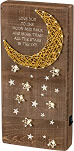 Primitives by Kathy LED String Art Box Sign, 6 x 12.5-Inches