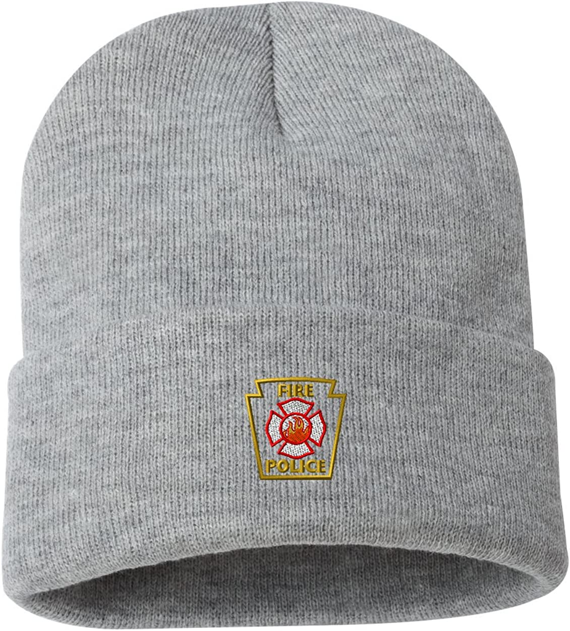 Fire Police Outline Custom Personalized Embroidery Embroidered Beanie