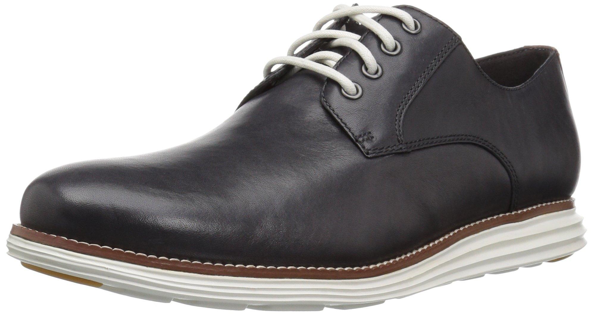 Cole Haan Men's Original Grand Plain Toe Oxford, Magnet/Woodbury/White, 10 M US
