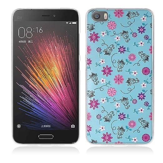 2 opinioni per Xiaomi Mi5 Cover, Fubaoda 3D Rilievo Fiore Colorato UltraSlim TPU Skin Cover