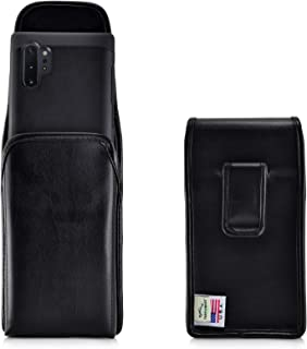 product image for Turtleback Holster Designed for Samsung Galaxy Note 10+ Plus (2019) Vertical Belt Case Black Leather Pouch with Executive Belt Clip, Made in USA