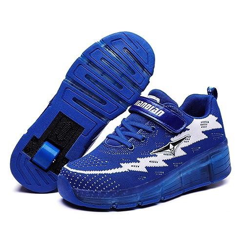 ❤❤❤Unisex Recargable Led Luz Automática de Skate Zapatillas con Ruedas Zapatos Patines Deportes Zapatos para Niños Niñas❤❤❤: Amazon.es: Zapatos y ...
