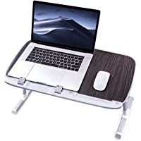 Laptop Desk for Bed, TaoTronics Lap Desks Bed Trays for Eating and Laptops Stand Lap Table, Adjustable Computer Tray for Bed, Foldable Bed Desk for Laptop and Writing in Sofa and Couch Black