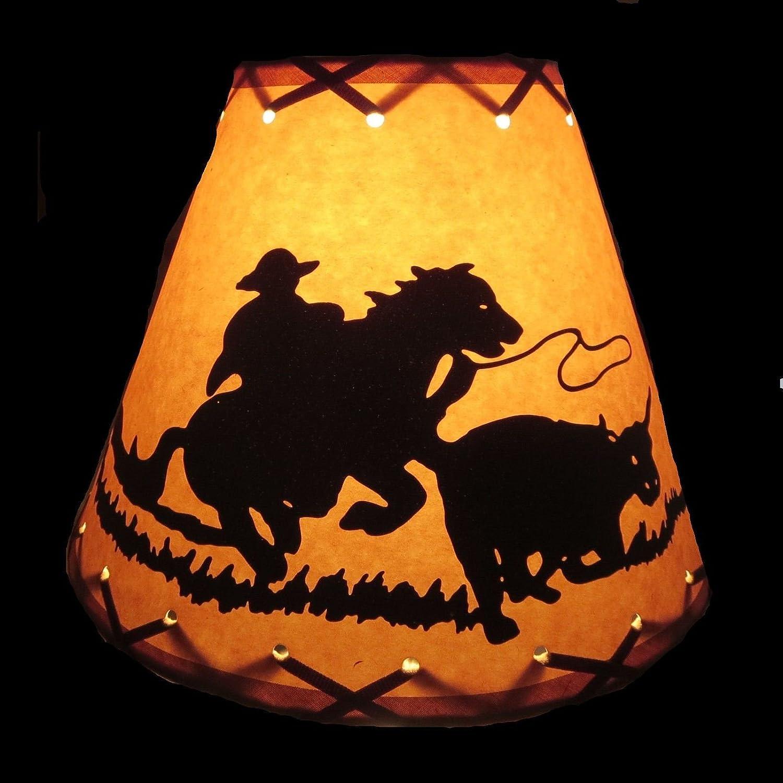 Western Decor 14 x 14 Barrel Shade Cowgirl Lamp Shade