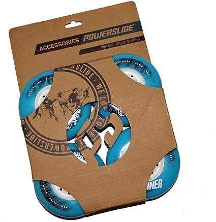 Powerslide 80mm 85A Spinner Freestylerollen 4er-Pack blau blau 80 mm