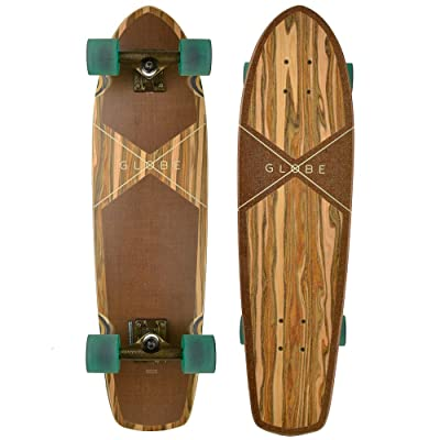 Globe Skateboards Tracer Classic Cruiser Skateboard Complete, Applewood/Hemp, 31 : Sports & Outdoors