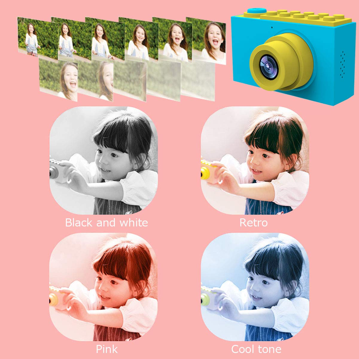 MAGENDARA Kids Digital Camera HD 1080P Children Camera 2.0 Inch Screen Toy Camera Boys Girls Birthday, Blue by MAGENDARA (Image #4)